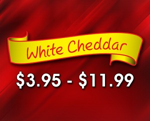 (CH4) White Cheddar- A popular and tasty white cheese flavor.